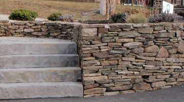 South Shore flat stone wall, Norwell, MA