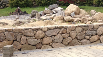 South Shore retaining walls installed, Weymouth, MA
