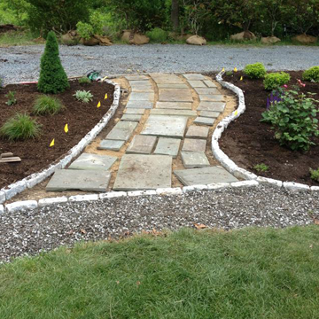 Landscape Designers stone walkway Scituate, MA