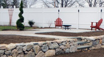 retaining wall Design and Construction south shore, ma