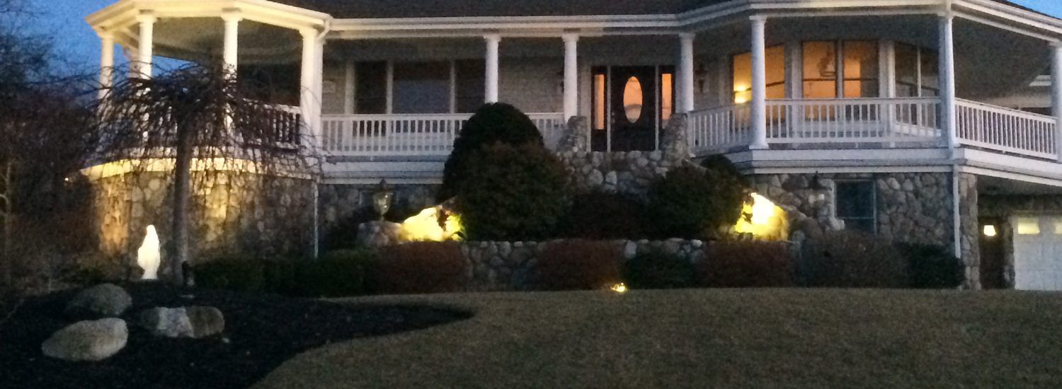 landscape lighting in South Shore, MA